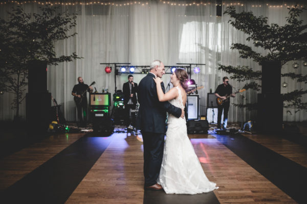 father daughter dance with silver bullets at veritas vineyards
