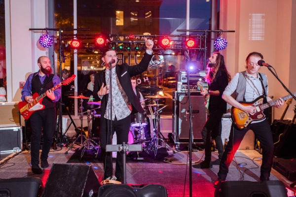 silver bullets performs ceremony music for quirk hotels first wedding